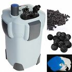 3-STAGE 75 GAL CANISTER FILTER + 9W UV STERILIZER FRESH/SALT AQUARIUM FREE MEDIA