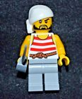 Pirate w/ Beard [White / Gray] w/ Saber ~ Lego Minifigure ~ MINT ~ NEW
