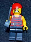 Pirate w/ eye patch [Red/ Black] w/ Saber ~ Lego Minifigure~ MINT ~ NEW