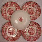 ANTIQUE ENOCH WOODS ENGLISH SCENERY TRANSFERWARE PLATES