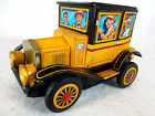 Vintage  Alps battery operated tin litho antique Ford model T grandpa car