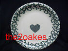 6 Tienshan Folk Craft Sponge Green Hearts Dinner Plates