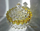 Antique Hobbs Brockunier Hobnail/dewdrop Butter Dish with Lid, C 1891