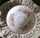 Royal Stafford Saucer Floral & Gold Trim-Pink & Blue Flowers English Bone China