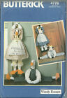 Butterick Sewing Pattern 4779 Draft Stopper Goose Duck Cow One Size Uncut