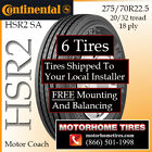 Motor Home Tires 275 70R225 Continental HSR2 SA Includes Shipping