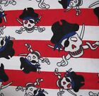 Snuggle Flannel Multi Color Pirates Apparel Quilting General BTY New
