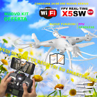 RC QUADRICOTTERO DRONE 24 GHZ SYMA X5C TELECAMERA HD UPGRADE VERSION LUCI NEW