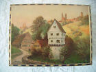 Vintage Mid Century REUGE Switzerland Music Jewelry Wood Box countryside