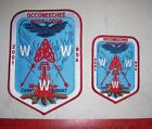 Lot of (2) BSA 2001 Occoneechee Camp Durant Backpatches