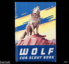 VINTAGE  BOY SCOUT - 1958 WOLF CUB SCOUT BOOK - FREE SHIPPING
