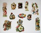 Mixed Lot of Vintage Die Cuts For Scrap Booking w Turtle Angels  Nativity