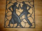 BUDERUS CAST IRON ART DECO WALL PANEL HEINRICH MOSHAGE  12inch