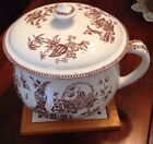 Antique England Parisian Granite Thomas Elsmore & Son Thunder Mug Chamber Pot!!!