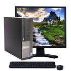 FAST Dell Optiplex Windows 10 Desktop Computer Tower C2D 4GB DVD WiFi 17 LCD