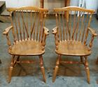 VINTAGE ETHAN ALLEN HEIRLOOM NUTMEG MAPLE WINDSOR FIDDLEBACK ARM CHAIRS 10-6020A