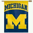 MICHIGAN WOLVERINES HOUSE FLAG BANNER 27X37 WEATHER RESISTANT OUTDOOR RATED