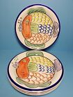 TABLETOPS UNLIMITED PESCADA SALAD PLATES SET OF FOUR (4)