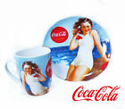 Coca Cola Gibson Bathing Beauty Pin Up Girl Collectable Plate and Mug Cup Set