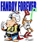 Bloom County - Bill the Cat and Opus as the Ultimate Fanboys Graphic Tee