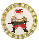 New Vietri Italy Old St Nick Round Serving Platter $120 Retail