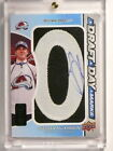13-14 Sp Game Used Draft Day Marks Nathan Mackinnon auto rc #D30 35 O *45023