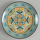 222 Fifth La Fuente Dinner Plates Set of 4 Multi-Color NEW WITH TAGS
