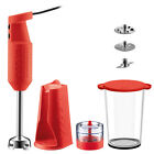 NEW Bodum Bistro Electric Red Blender Stick with Accessories