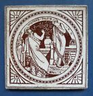 MINTON POTTERY SHAKESPEAREAN TILE - WINTER'S TALE - J. MOYR SMITH - C.1875