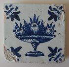 17th Century DUTCH DELFT TILE : FRUIT COMPOTE / BOWL / TAZZA (c.1625)