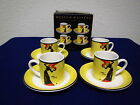 MUSEUM MASTERS JANE AVRIL set of 4 ESPRESSO CUPS and SAUCERS ; new in box