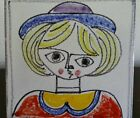 Vintage! Giovanni DeSimone 6x6 Art Tile-Hand Painted in Italy for Joseph Magnin