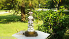 VINTAGE LAMP with CORDEY Asian,Oriental Victorian Woman in Elegant Dress,TRENTON