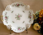 Vintage '50's Rosenthal Moliere Mossrose Pierced Handled Cake Plate 12