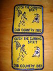 Boy Scouts of America Catch the Cubbing Spirit Cub Country 1983 Patch set of 2