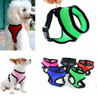 Pet Dog Doggie Puppy Chihuahua Soft Mesh Vest Harness Black Blue Red XS S M L XL