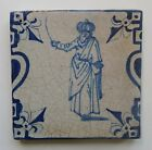 A RARE 17th Century DUTCH DELFT BALUSTER TILE *TURK WITH TURBAN* (c.1625-1650)