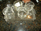 Vintage Hocking Candlewick Boopie Glass Luncheon Snack Plate Set of 3