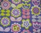 Snuggle Flannel Fabric Floral On Purple Apparel Quilting General BTY New