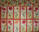 Susan Winget~~~ Poppies Floral Panel and Backing~~~ 12 Flowers  16 X 21  B1