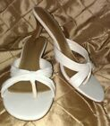 NEW WITH BOX!!! Cabrizi size 8W white dress sandal/flip-flop 1.5 inch heel