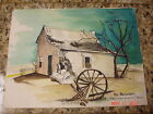 ESTATE TEXAS ARTIST PAT WELSH PRITCHETT WATERCOLOR PAINTING FORT CHADBOURNE RUIN