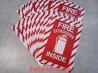 (100 Signs) Fire Extinguisher Inside w/Picture 6