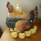 Vintage Intrada Campagna Italy Handmade Hen Tureen with chicks