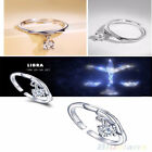 Newfangled Silver Wedding 12 Constellations Fashion Lady  Adjustable Rings