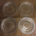 Set of 4- Stratton By Fostoria For Avon- 1978 Anniversary Clear Glass Plates