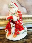 Beautiful Fitz And Floyd Santa Claus Town & Country Christmas Cookie Jar