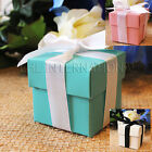 25 50 100 Wedding Favor Boxes Baby Shower Baptism Party Gift Pink White