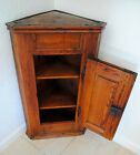 Antique Austrian Corner Cabinet/Cupboard Home Décor/Accent Floor or Wall Oak