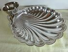 Silver Plated Clam Shell Serving Dish With Dip Bowl